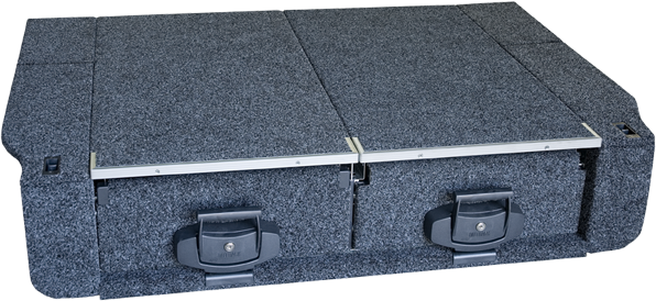 Drawer unit with Fixed Floor for Toyota Hilux Dual Cab