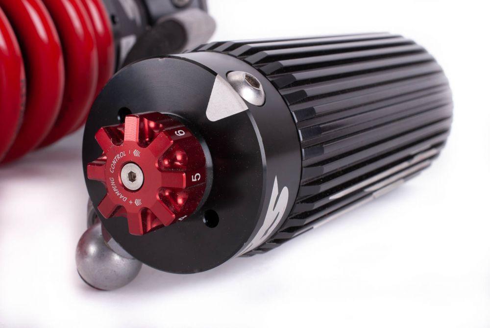 VMN Red Springs Remote Reservoir Full car suspension set to Suit  Toyota Hilux N70/KUN26/Vigo (4 Shocks)