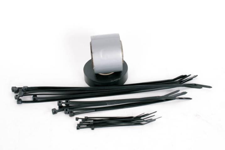 Duct tape & zip ties
