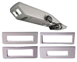 VMN offers interior roof consoles that are easy to fit for your vehicle's cabin, pockets, and interior lightings.