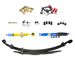Our experts recommend you buy this mild suspension lift kit as it offers factory rear leaf springs, shock absorbers both in front and rear, as well as front coils.