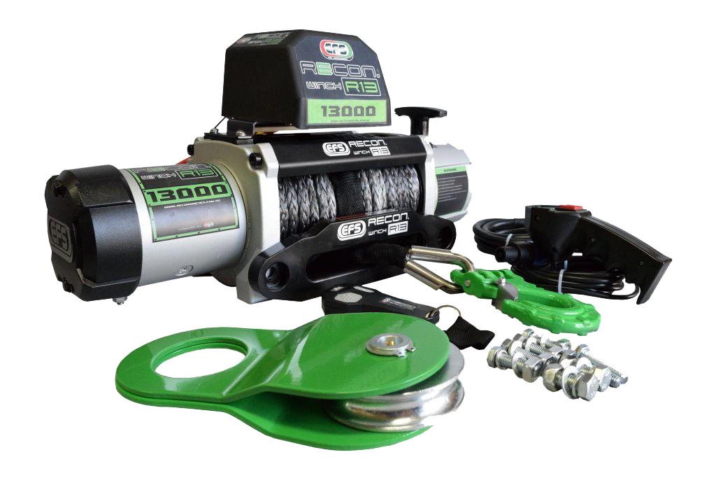 it's important that you don't only invest in formidable towing materials but also in powerful winches.