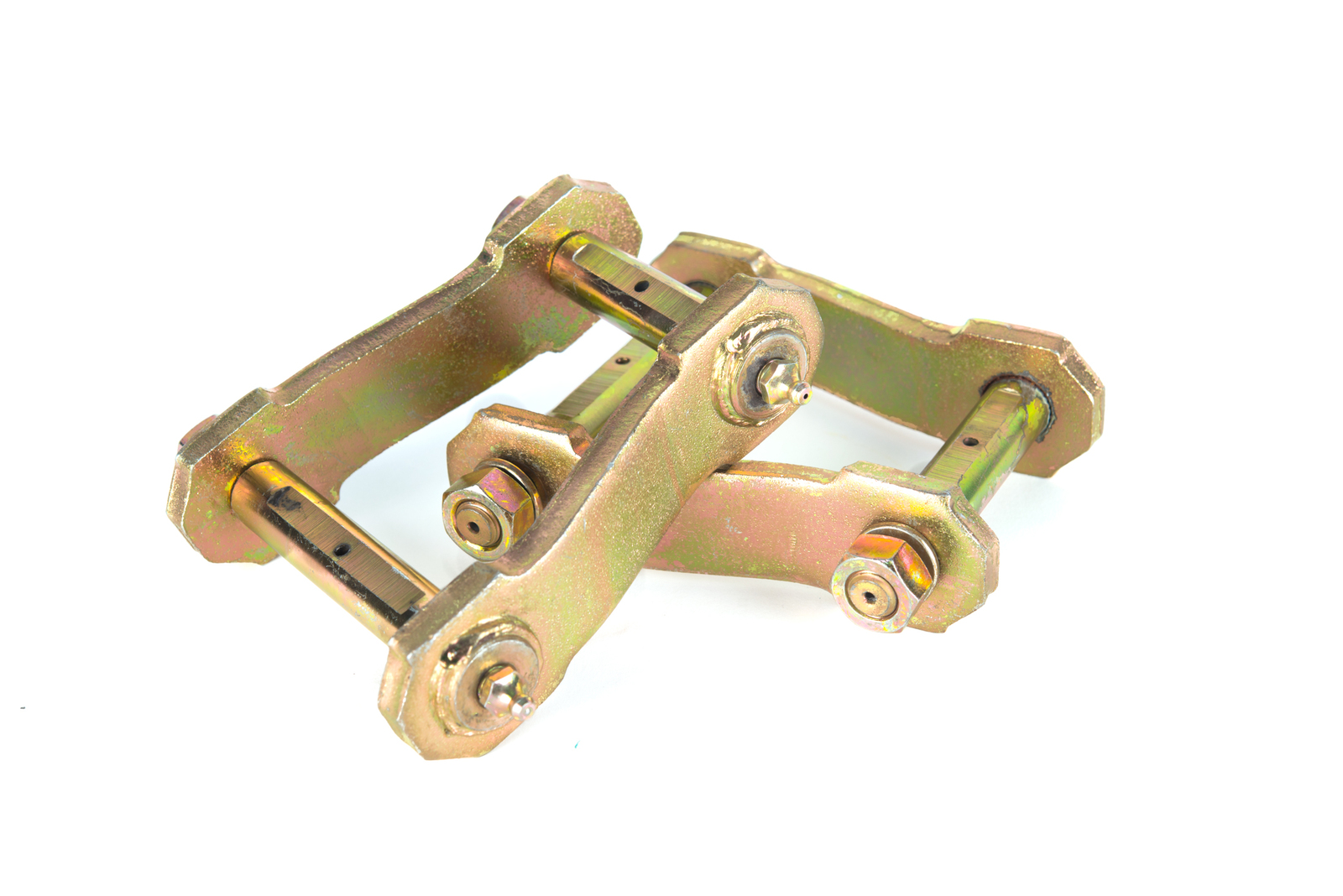 VMN offers greasable shackles to extend your bush life after a suspension lift.