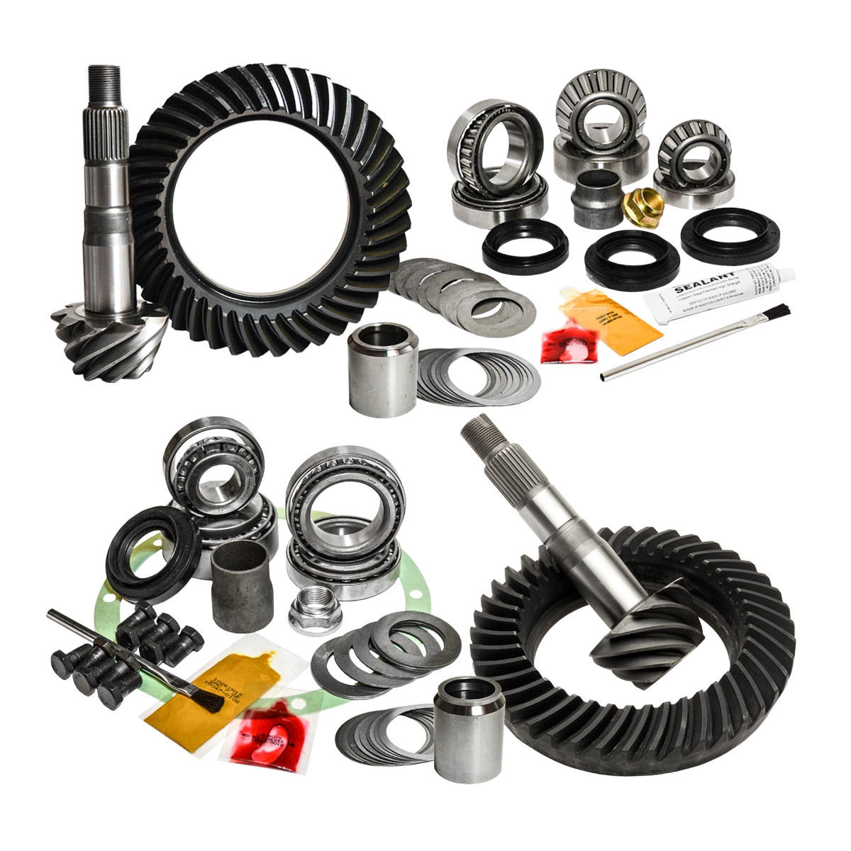 VMN offers Nitro complete regearing kits composed of front and rear ring with pinion